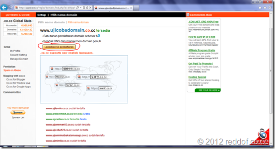 domain tersedia